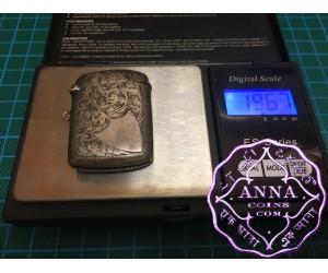 Birmingham Hallmarked 1902 Antique Sterling Silver Vesta Case Maker S. MT