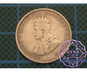 Australia George V 92.5 Silver Sixpence Average Circulated Condition