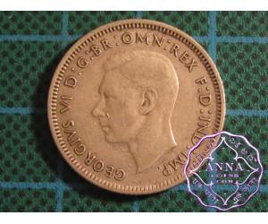 Australia George VI .50 Silver Shilling Average Circulated Condition