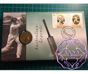 Australia 1997 Don Bradman 5 Dollar Bi Metal Coin PNC