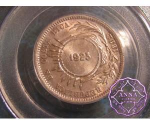 Costa Rica 1923/1892 Counterstamp 50 Centimos PCGS MS64